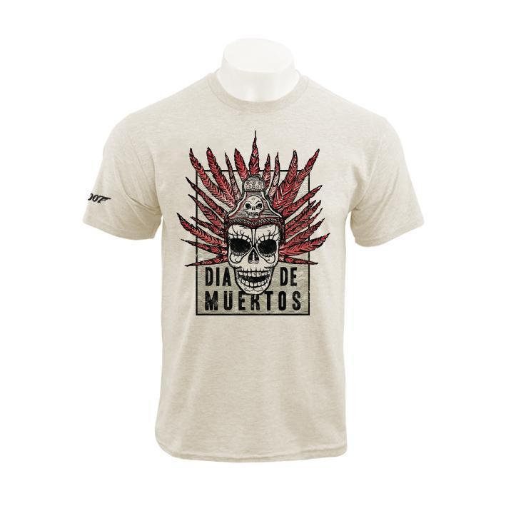 Natural Cotton Día De Muertos Poster T-Shirt - Spectre Limited Edition