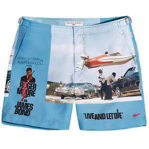 ORLEBAR BROWN MID-LENGTH SWIM SHORTS - LIVE AND LET DIE