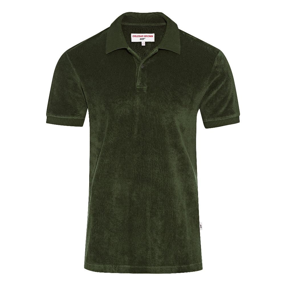 Seaweed Green Towelling Polo Shirt - Dr. No Edition - By Orlebar Brown - 007STORE