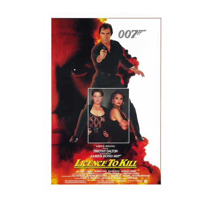 LICENCE TO KILL POSTCARD