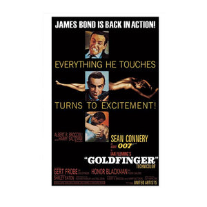 GOLDFINGER POSTCARD