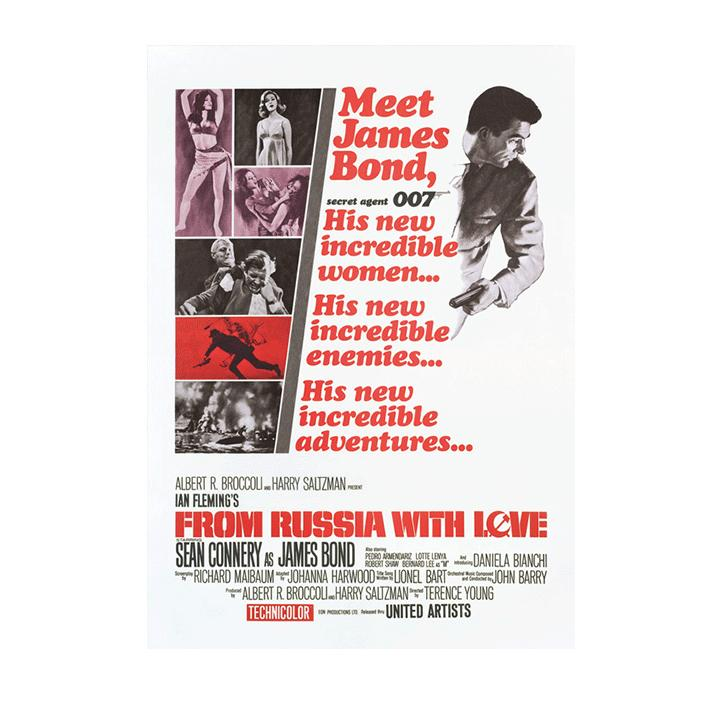 FROM RUSSIA WITH LOVE POSTCARD