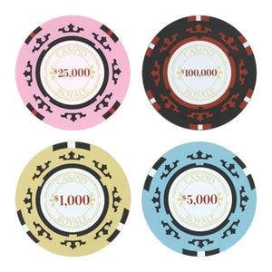 Casino Royale Poker Chip Coaster Set