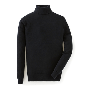 Black Cashmere Roll Neck Sweater -  Live And Let Die Limited Edition By N.Peal