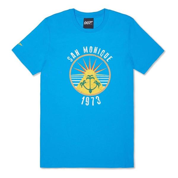 Azure Blue San Monique Island T-Shirt - Live And Let Die Limited Edition