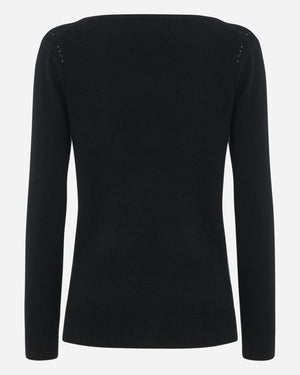 Women's V Neck Cashmere Sweater - Holly Goodhead Edition - By N. Peal