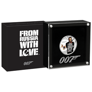 James Bond Dr. No & From Russia With Love Two Coin Set - By The Perth Mint