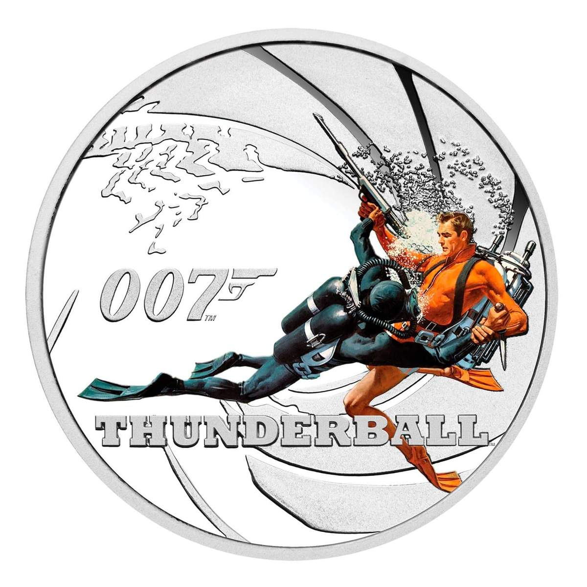 James Bond Thunderball 1/2 oz Silver Proof Coin - By The Perth Mint