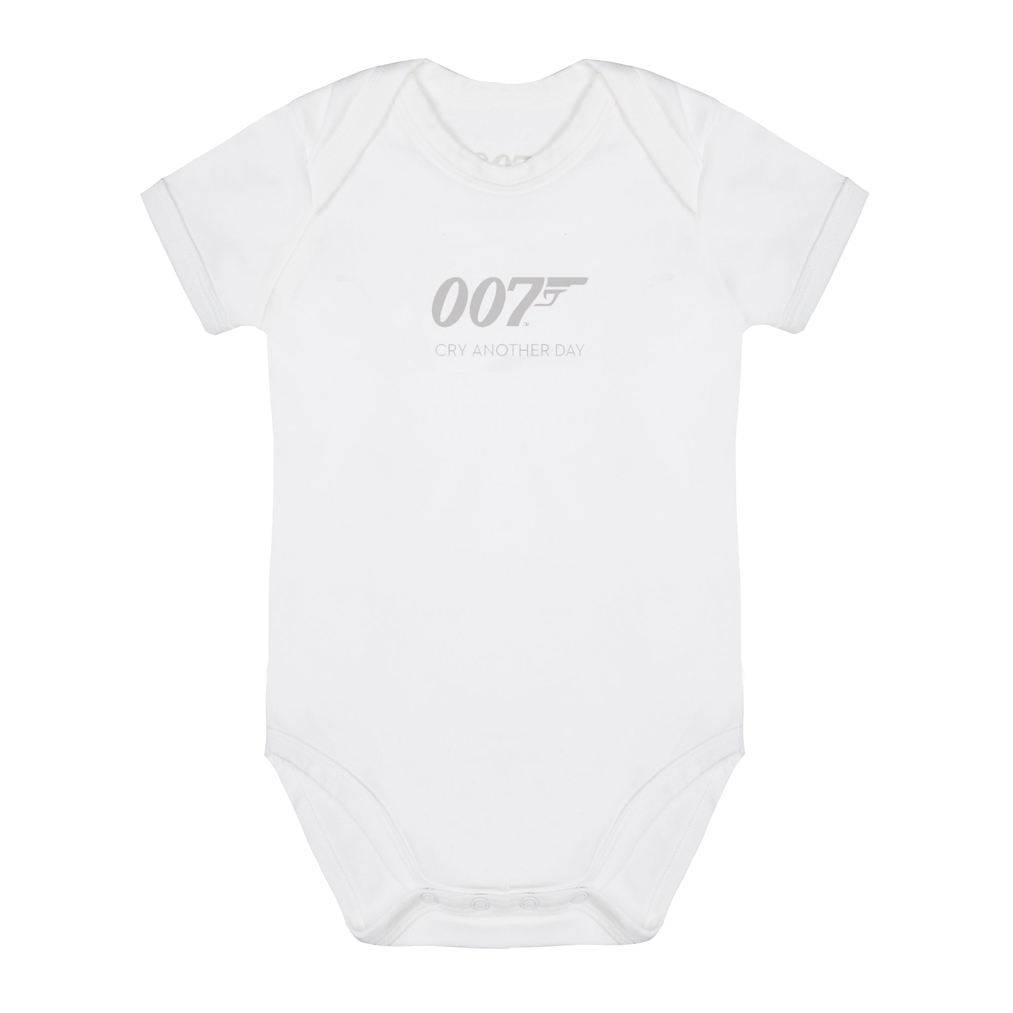 007 Cry Another Day White Baby Bodysuit
