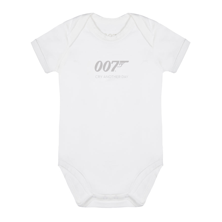 Cry Another Day 007 White Baby Bodysuit