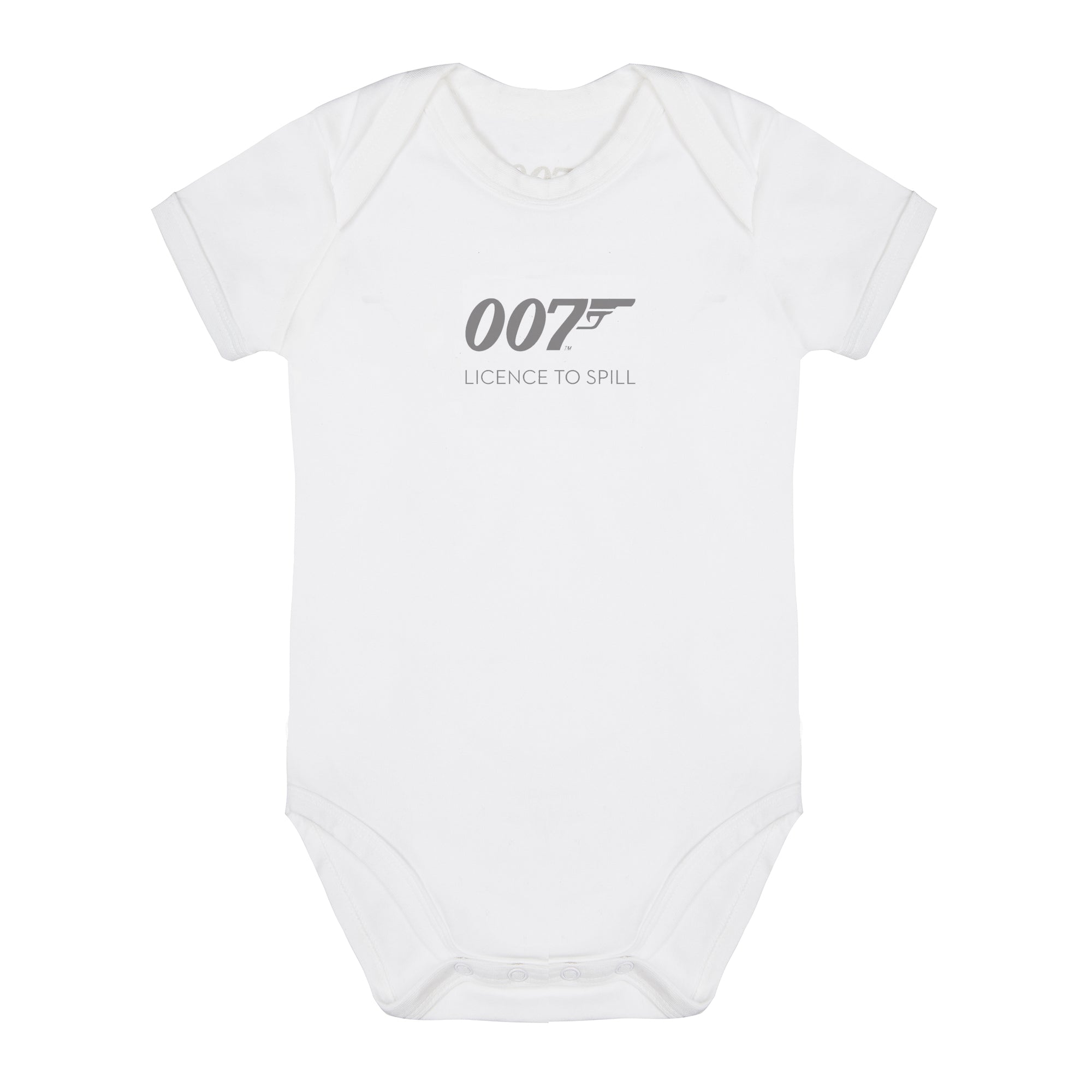 007 Licence To Spill White Baby Bodysuit