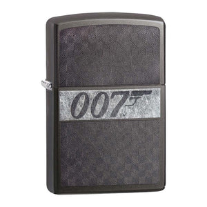 James Bond 007 Zippo Lighter - Iced Gray Checkerboard Case
