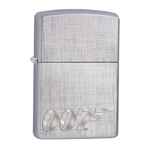 James Bond 007 Zippo Lighter - Brushed Silver Case