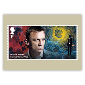 Royal Mail James Bond Stamp Postcard Set