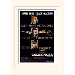 30 x 40cm MOUNTED PRINT - GOLDFINGER (EXCITEMENT)