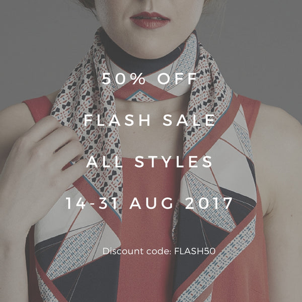 Enjoy 50% OFF in our Summer Sale 14-31 Aug 2017
