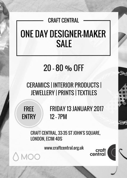Craft Central | One Day Designer Sale - Friday 13th January