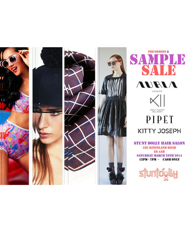 Stuntdolly Pop Up Keely Hunter Millinery, Kitty Joseph, Auria Swimwear, Pipet Design