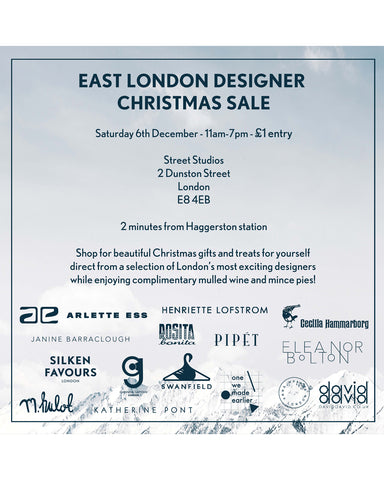 East London Designers Christmas Sale