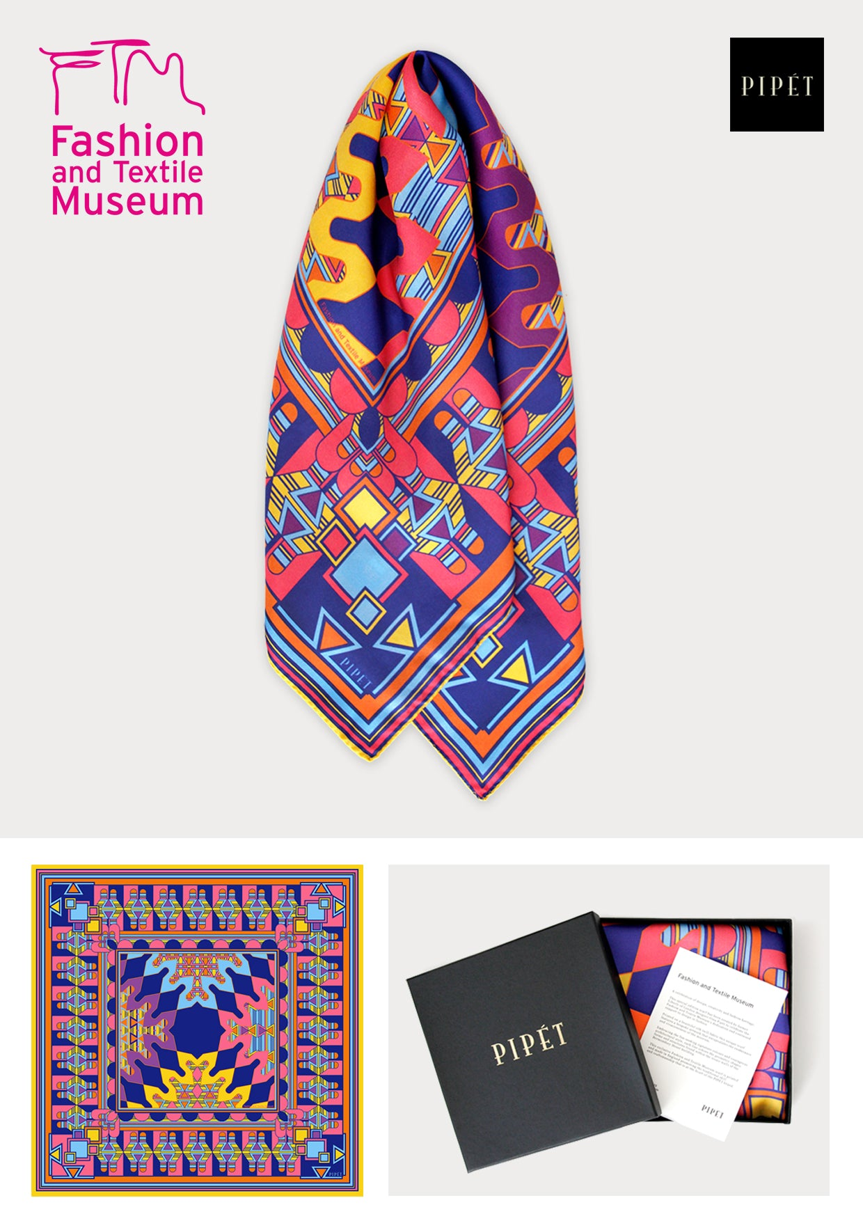 Fashion and Textile Museum Pipet Scarf Commission