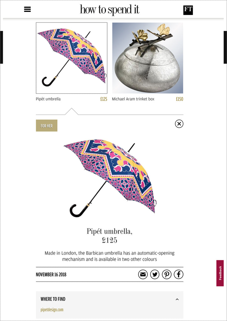 How to Spend It Financial Times Pipét Umbrellas