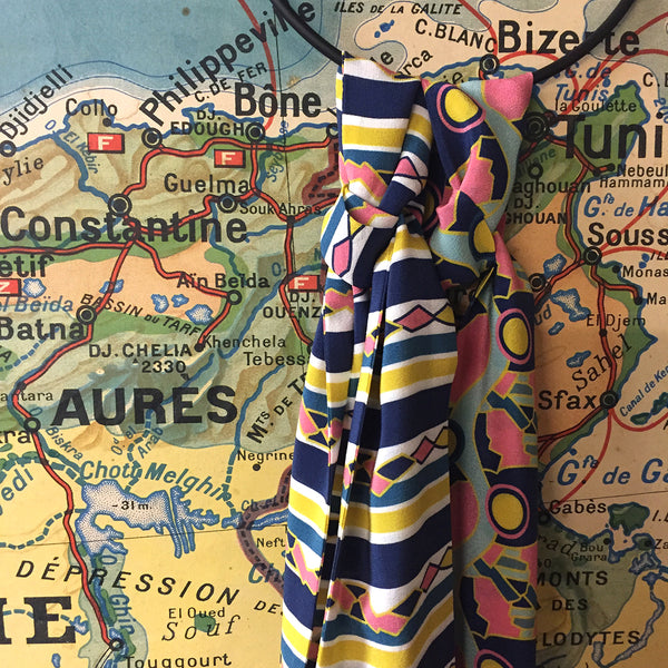 PIPET Scarves Little Paris vintage map