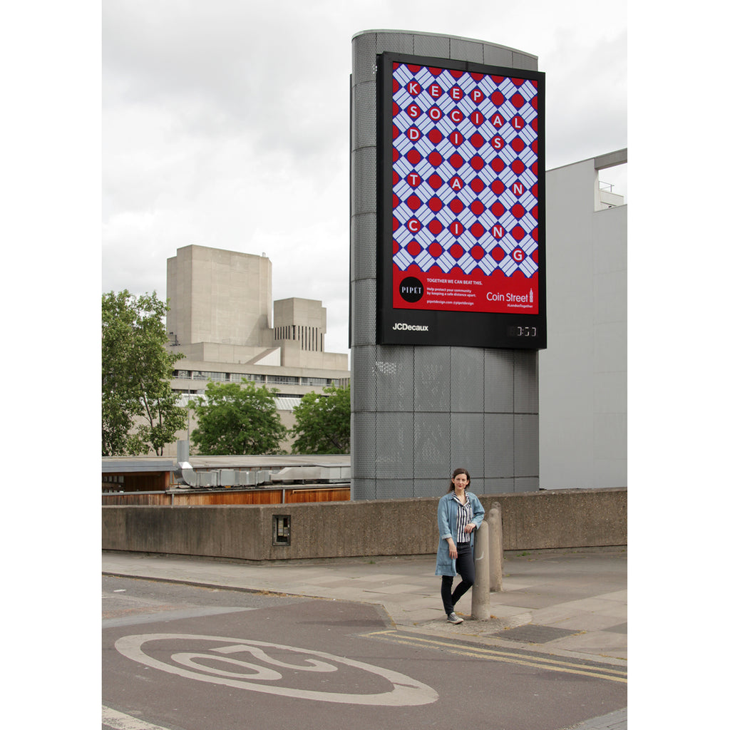 Coin Street Pipet Design Billboard Southbank