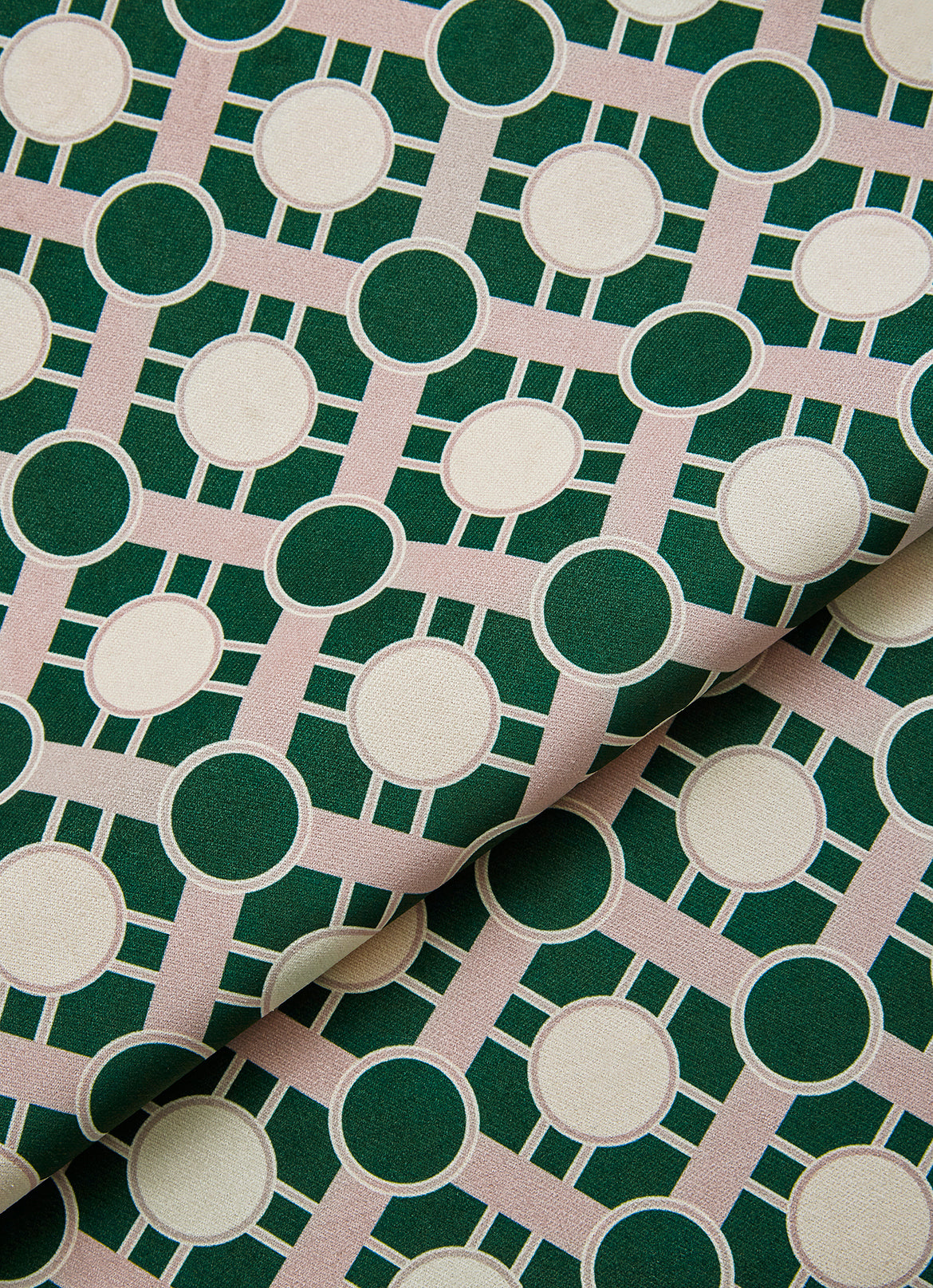 Pipet Design Bernadette Pink and Green printed fabric