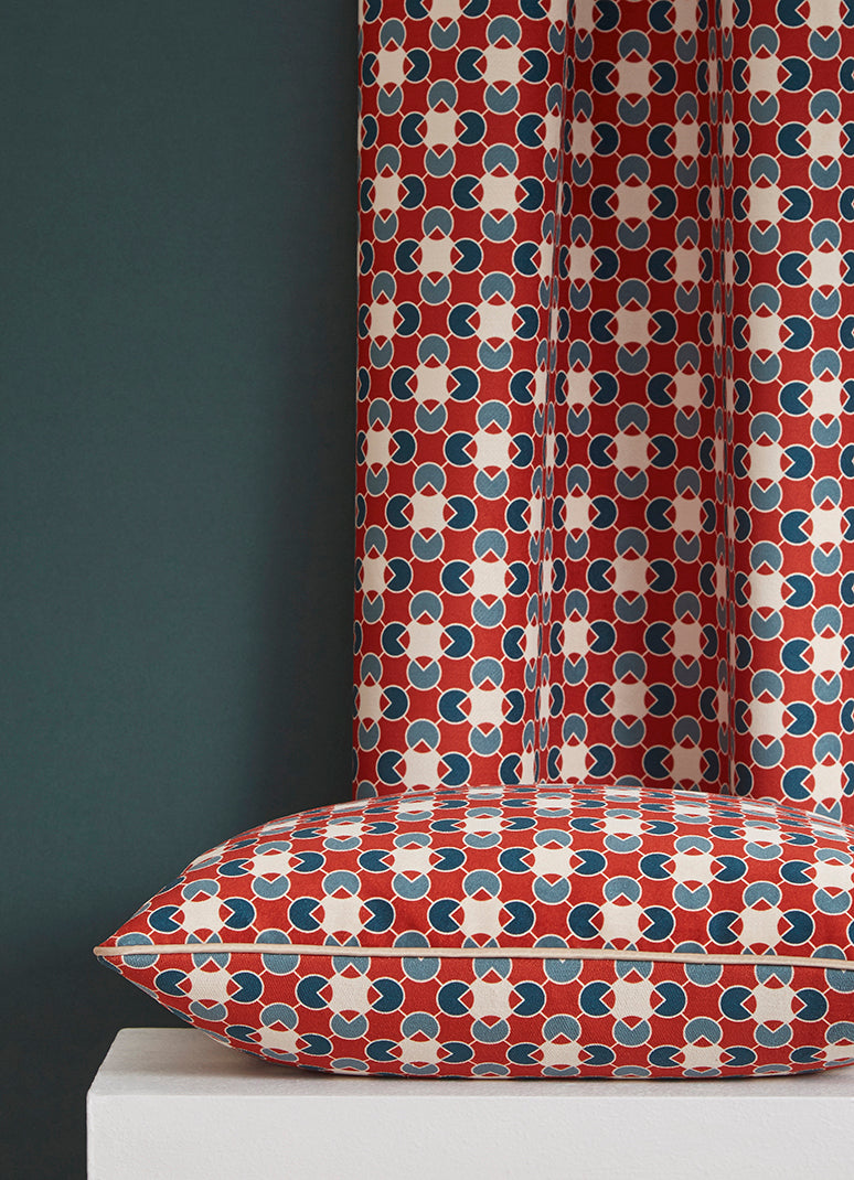 Pipet Design Moore fabric and printed cushion