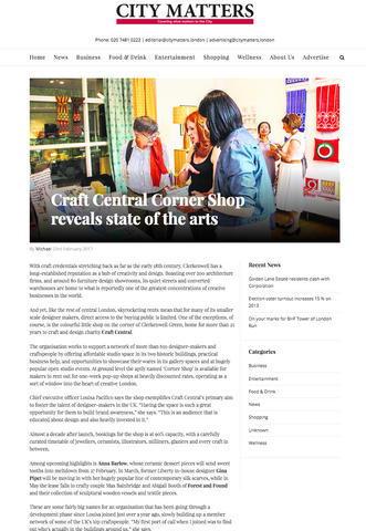 City Matters Clerkenwell Craft Central