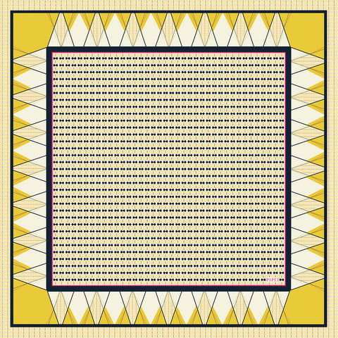 Emile 90cm Square Scarf - Imperial Yellow
