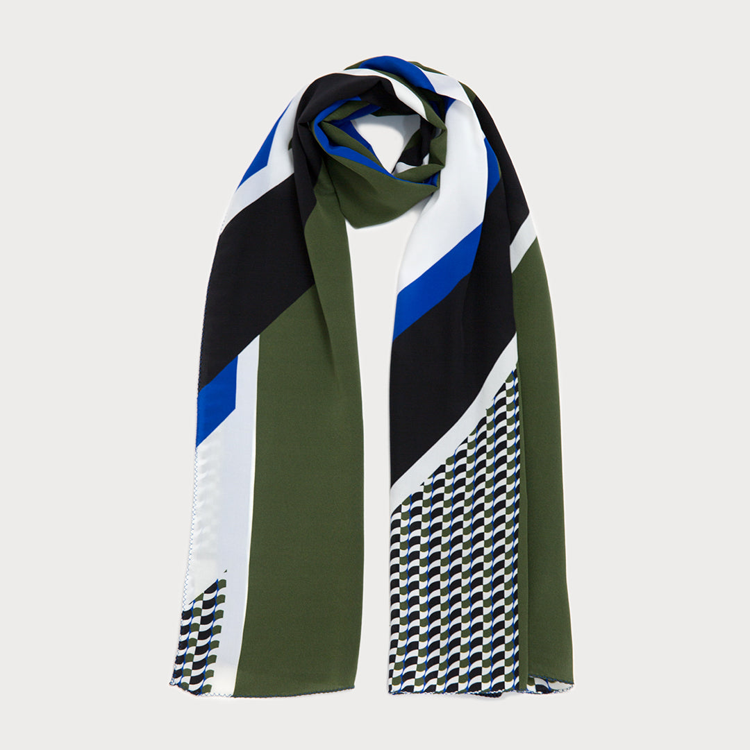NEW! Marvel Long Scarf - Black / Khaki Green