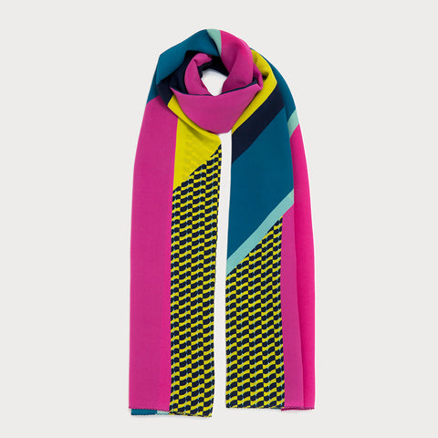 Marvel Long Scarf - Navy / Pink