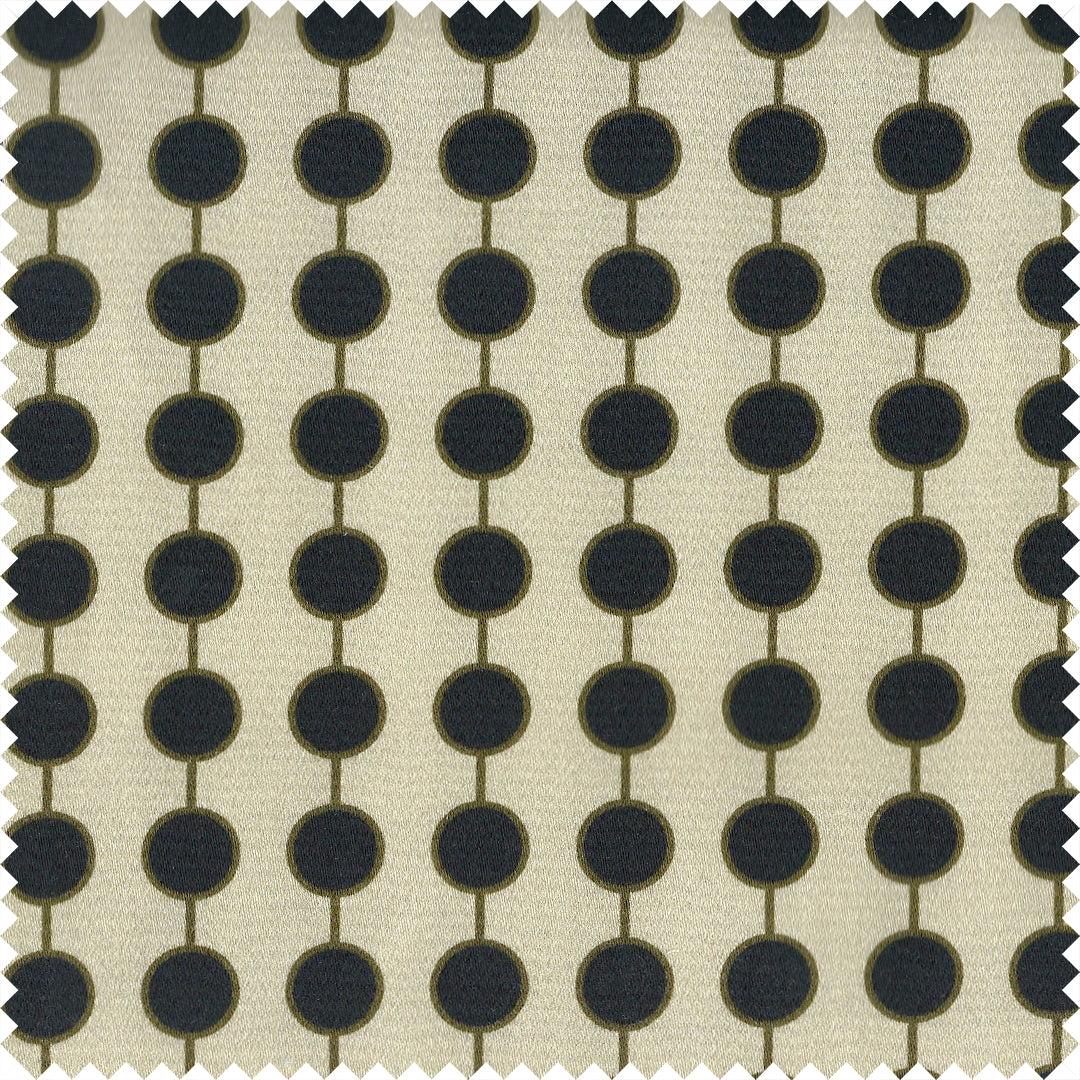 Barbecana Plain Cotton Sateen Stone/Black