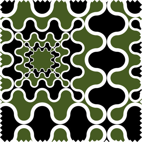 Bon Cotton Velvet Black/Green