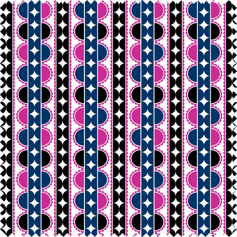 Chamberlin Cotton Sateen Navy/Magenta