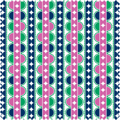 Bon Cotton Sateen Mauve/Green