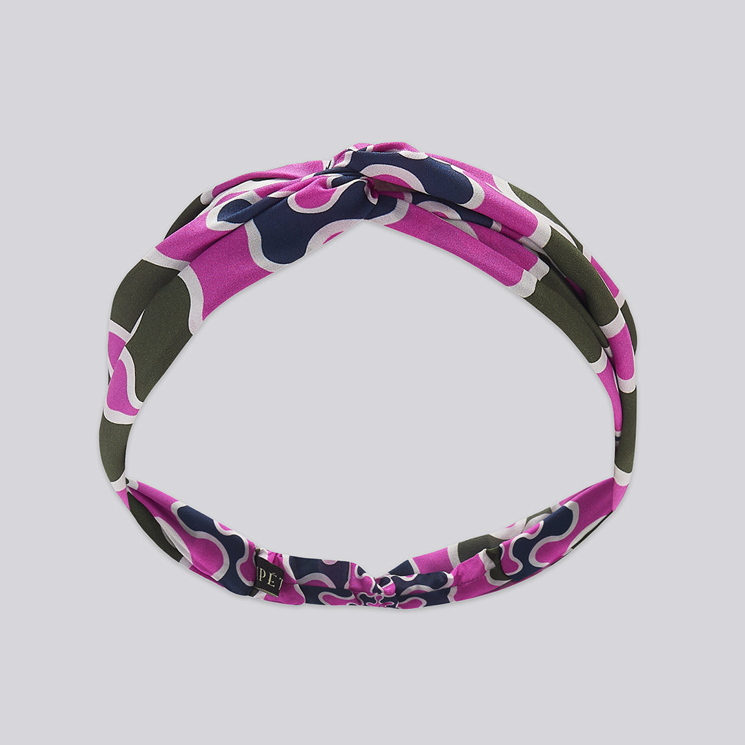 Frobisher Headband - Navy / Purple / Khaki