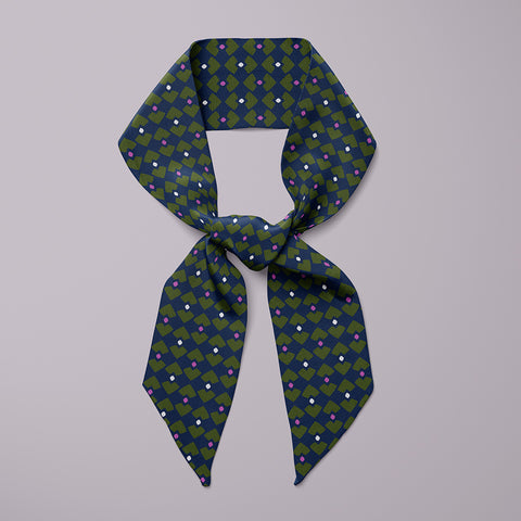 Graphica Mini Scarf - Navy / Yellow