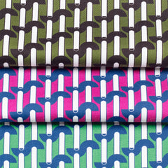 Storey Striped Printed Cotton Sateen by Pipét Design