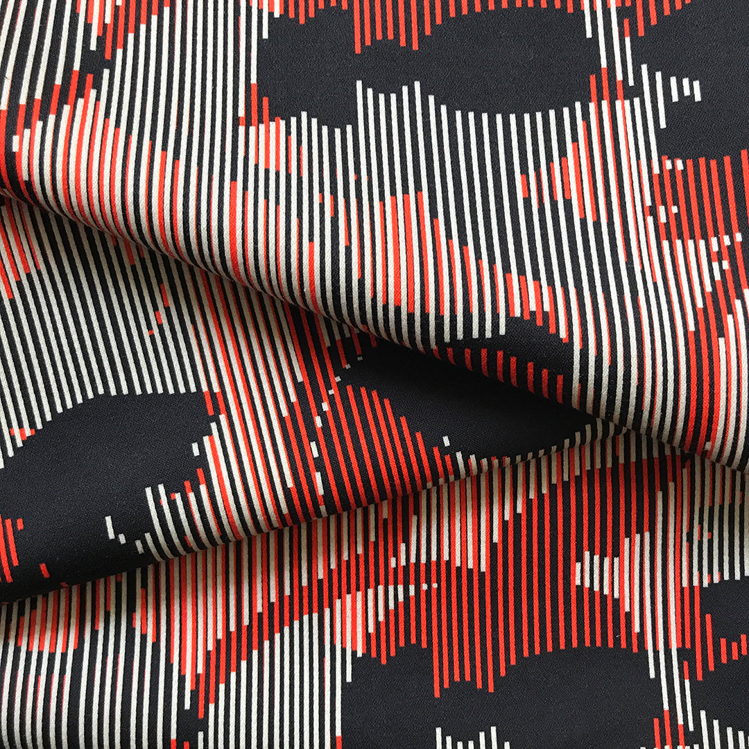 Sumatra Striped Printed Cotton Sateen by Pipét Design