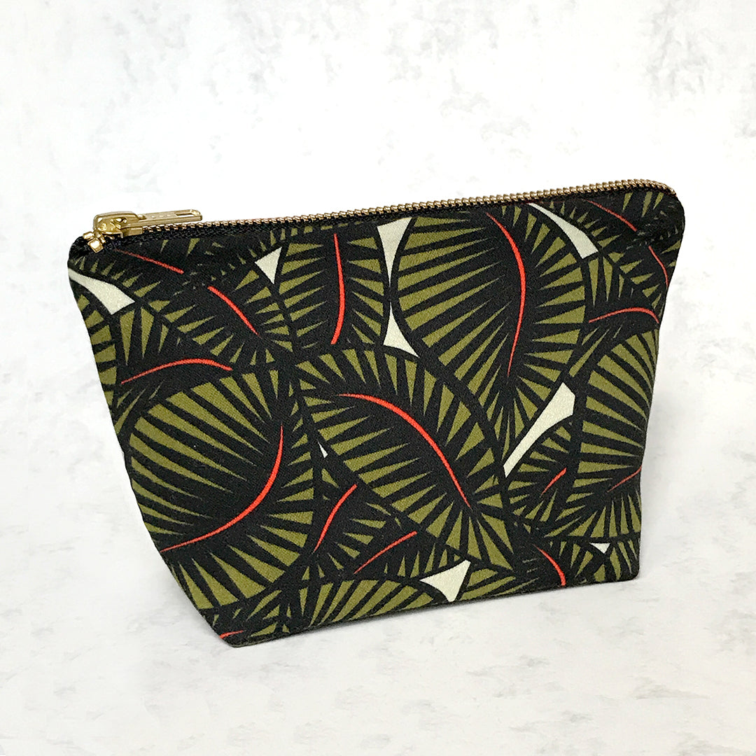 Jungle Floral Cotton Travel Pouch