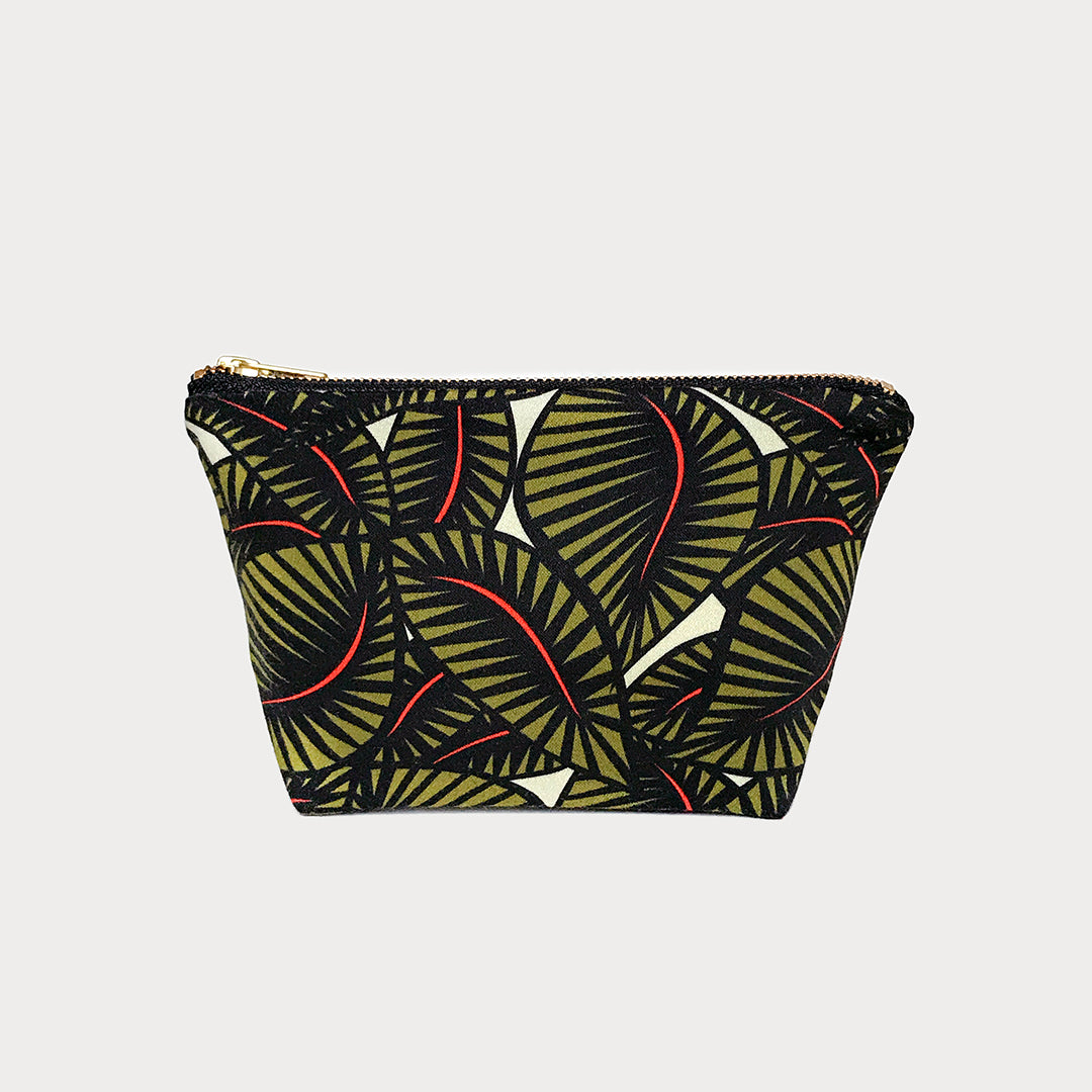 Jungle Floral Mini Cotton Travel Pouch