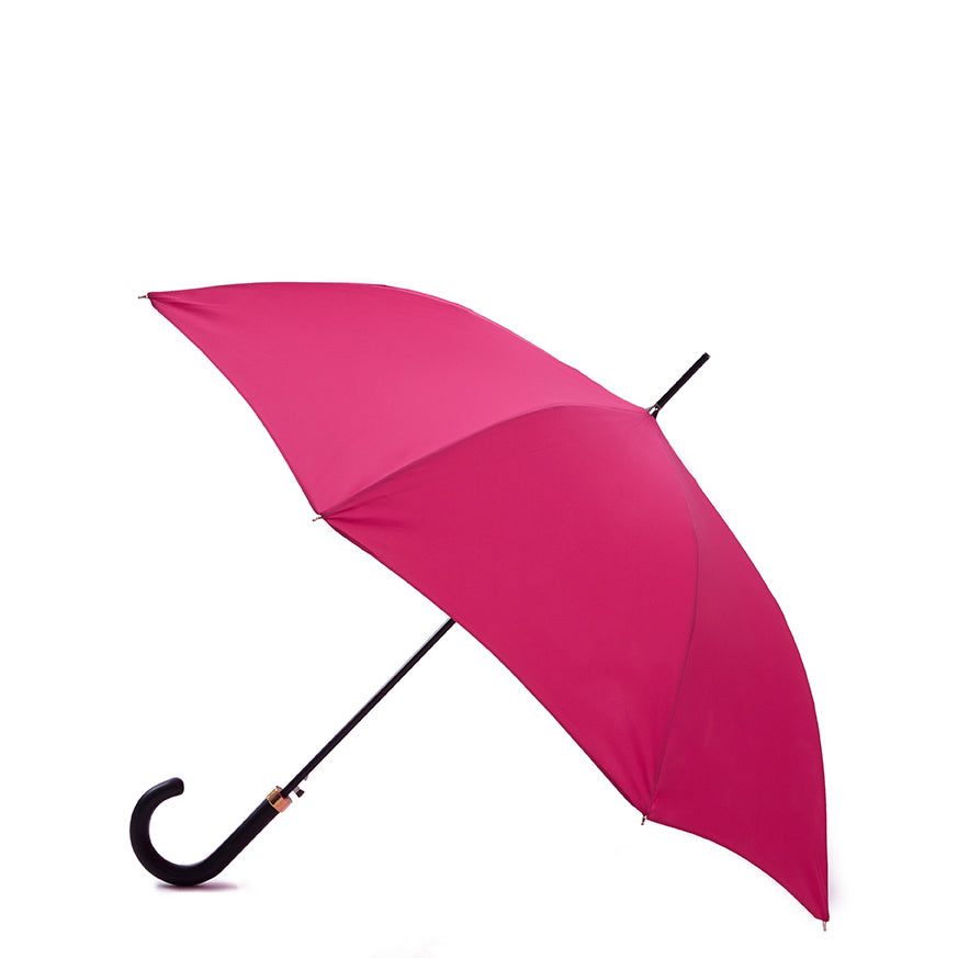 Pipet Design Full Length Traditional Umbrella, Cerise Pink