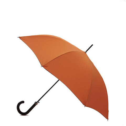 Pipet Design Full Length Traditional British Umbrella, Orange