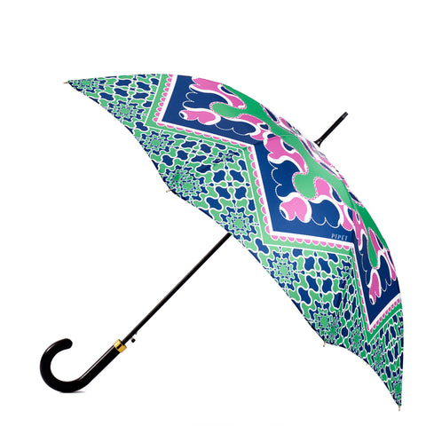 Pipet Full length Mauve and Green Ladies Umbrella, Made in UK