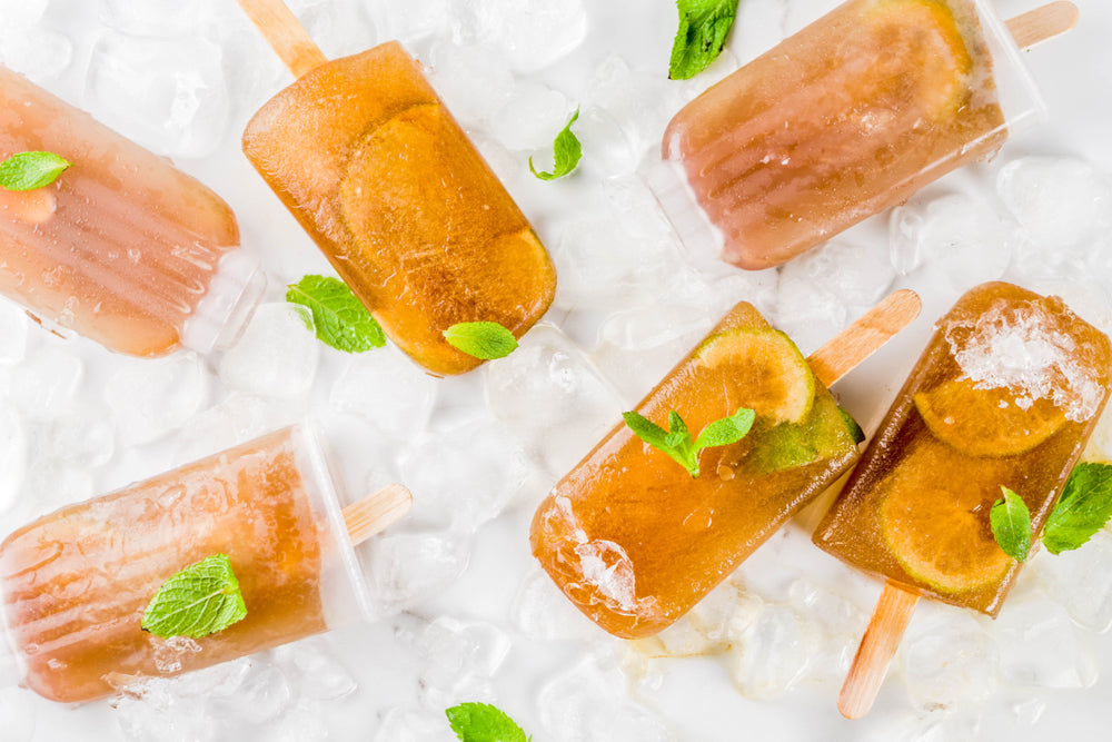 Lemon Ginger Keto Detox Popsicles