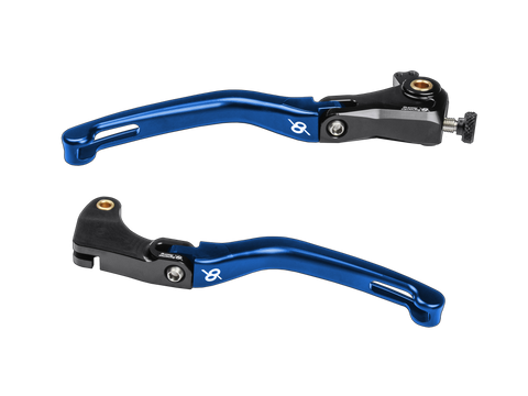 Bonamici Yamaha R6 (17+) & R1 (15+) Folding Levers (Black/Blue)