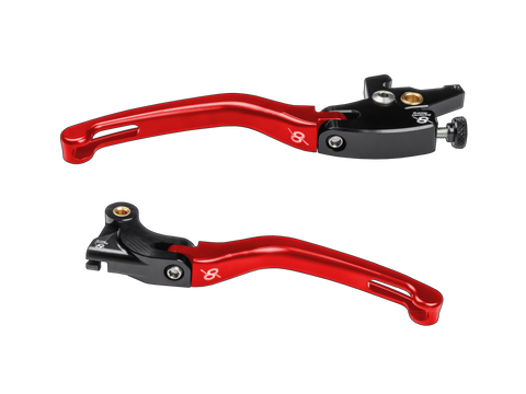 Bonamici Yamaha R3 Levers (2015+) (Black/Red)