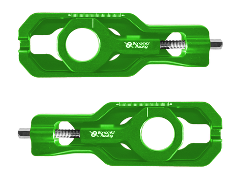 Bonamici Kawasaki ZX-10R Chain Adjuster (2016+) (Green)